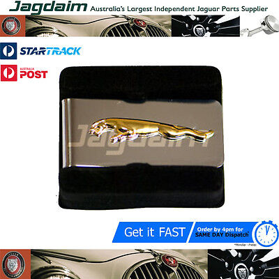Jaguar Leaper Chrome And Gold Money Clip In Box Jdmclg