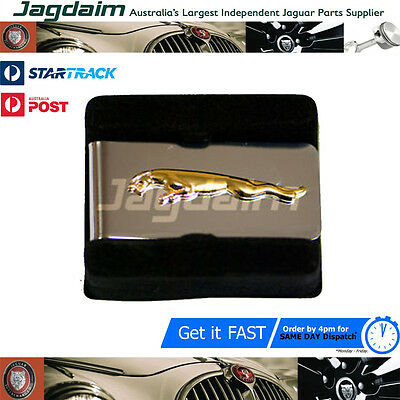 New Jaguar Leaper Chrome And Gold Money Clip In Box JDMCLG