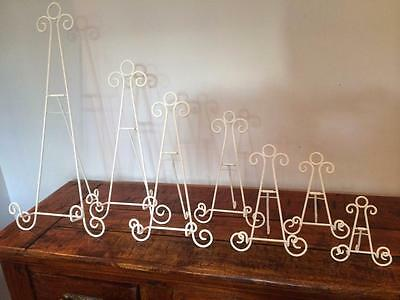 White Iron Easel Display Canvas Picture Artwork Menu Book Plate Stand Wedding