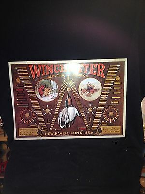 "1974 23"" Winchester Repeating Arms Co Sign"