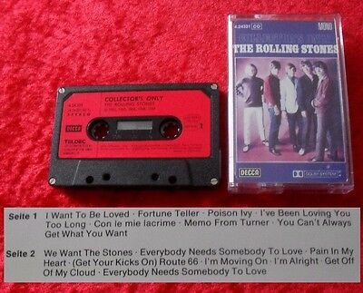 MC The Rolling Stones - Collector's Only - Musikkassette Cassette