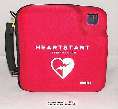 Philips Fr2+ Heartstart Defib, New 2018 Pads Low Use Battery Memory Card + Case