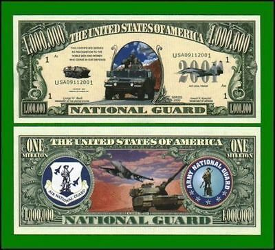 100 Factory Fresh Novelty National Guard Million Dollar Bill