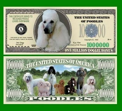 100 Factory Fresh Novelty Poodles Million Dollar Bills - New