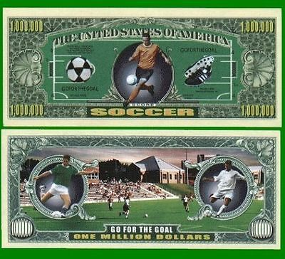 100 Factory Fresh Novelty Soccer Million Dollar Bills