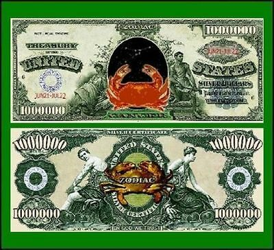 50 Factory Fresh Novelty Cancer Zodiac Million Dollar Bills
