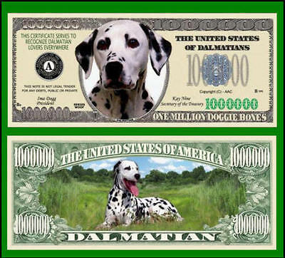 50 Factory Fresh Novelty Dalmatian Dog Million Dollar Bills