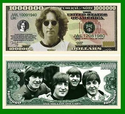 50 Factory Fresh Novelty John Lennon Million Dollar Bills