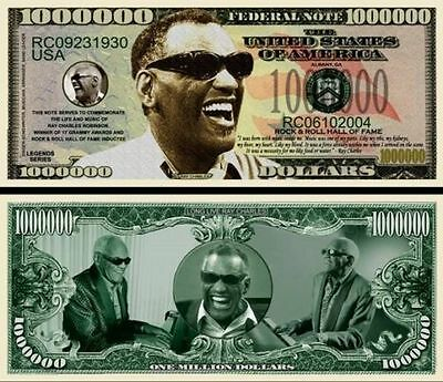 50 Factory Fresh Novelty Ray Charles Million Dollar Bill