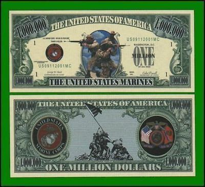 50 Factory Fresh Novelty US Marines Military Million Dollar Bill
