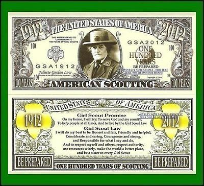 25 Factory Fresh Novelty American Scouting Dollar Bill