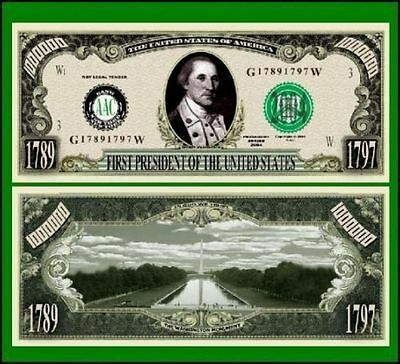 25 Factory Fresh Novelty First President George Washington Bill