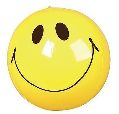 "SMILEY FACE BEACH BALL 16"" Pool Party Beachball NEW #BB26 Free Shipping"