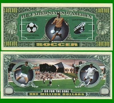 15 Factory Novelty Fresh Soccer Million Dollar Bills