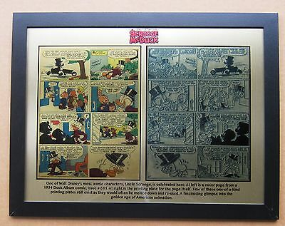 Disney Uncle Scrooge 1954 Printing Plate & Comic printed to 12 x 15 metal plate