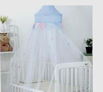 Dot Mosquito Net Crown Bed Midge Canopy For Girls Bed Crib Or Single Double Size