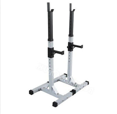 Adjustable Heavy Duty Gym Squat Barbell Power Rack Stand Weight Bench Support WH