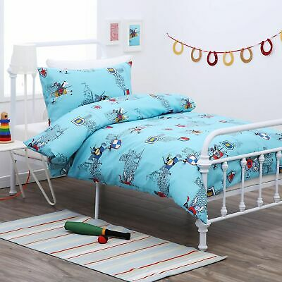 New Single Bed Knight & Castle Quilt Cover Set Boys Kids w/ Pillowcase 180TC