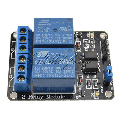12V Two 2 Channel Relay Module With optocoupler For PIC AVR DSP ARM Arduino TOP