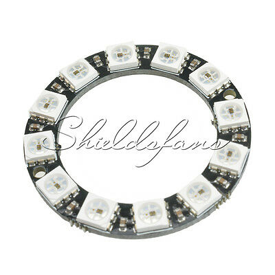 RGB LED Ring 12Bit WS2812 5050 RGB LED + Integrated Drivers For Arduino S