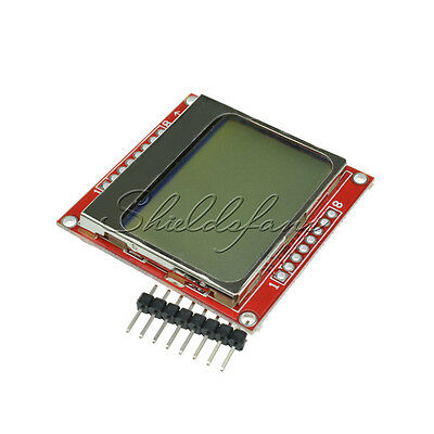 84*48 LCD Module White Backlight Adapter PCB for Nokia 5110 Arduino AU