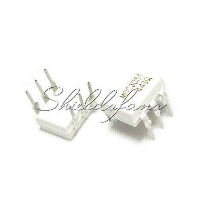10Pcs Ic Moc3051 Fsc Optocoupler Triac-Out 6-Dip