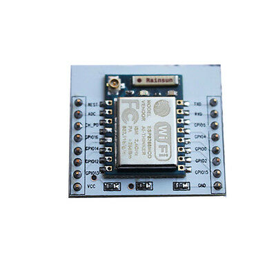 2pcs ESP8266 ESP-07 Remote Serial WIFI Module with IO Adapter Plate Expansion