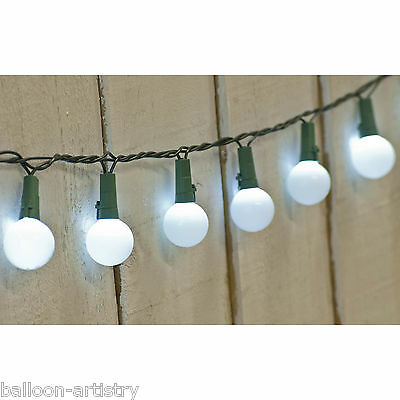 50 Christmas WHITE Indoor Outdoor Tough LED Berry Lights Garland Decoration