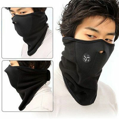 New Motorcycle Cycle, Ski, Fishing Thermal Face Mask Neck Warmer Balaclava BLACK