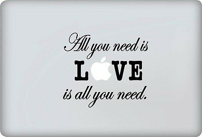 "Stickers All You Need Pour Macbook Pro Air Retina Autocollants Decal 13"" Pouces"