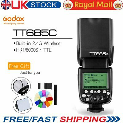UK Godox TT685C 2.4G Wireless E-TTL II HSS 1/8000 Flash Speedlite for Canon DSLR