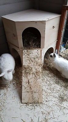 ::::::new Larger Rabbit Version::::: 2 Storey Corner Play Tunnel/shelter