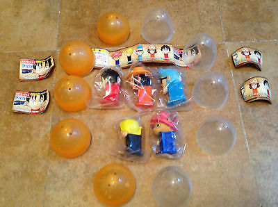 Lot of 5 Complete Set Bandai ONE PIECE 2 Mini PEZ Dispenser with Egg Figure