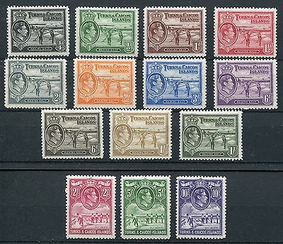 Turks & Caicos KGVI 1938-45 set of 14 SG194/205 mounted mint