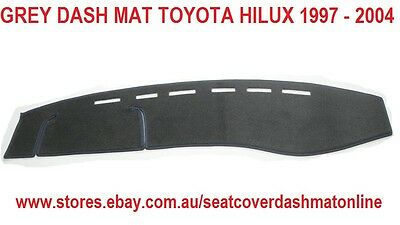Dash Mat, Dashmat, Grey Dashboard Cover Fit Toyota Hilux 1997-2004,  Grey