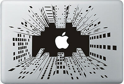"Stickers City Pour Macbook Pro Air Retina Autocollants Decal 13"" Pouces"