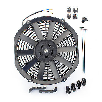 "ACP 12"" Universal Push Radiator Cooling Fan Straight Blades Replacement Unit"