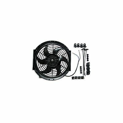 """10"""" 24v Pull Type Radiator Cooling Fan With Straight Blades + Mounting Kit"""