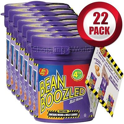 22 Pack BEAN BOOZLED Mystery Bean Dispenser 3.5oz by Jelly Belly Candy Challange