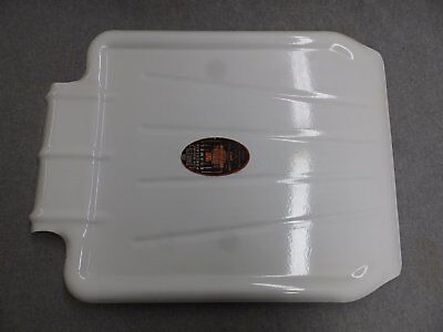 Vtg NOS Steel White Porcelain Sink Basin Cover Drainboard Silv-A-King 5078-15