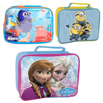 Official Licensed Character - Insulated Lunch Bag Kids School Box Gift Xmas New