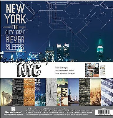 NEW YORK CITY 12x12 Scrapbooking Paper Pack Paper House KTSP-1024 NEW