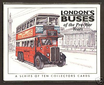 LONDON'S BUSES (PRE-WAR) - Original Collectors Cards - NT ST Type Trolleybus