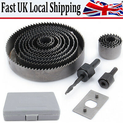 16 Hole Saw Kit 19-127Mm Metal Circle Cutter Round Drill Wood Alloy Downlights