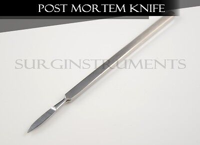 Stainless Steel Autopsy Post Mortem Disection Knife - Both Sides Rounded 5""