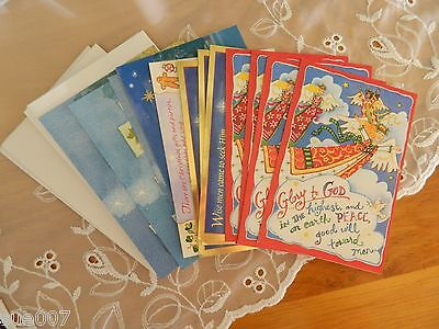 Set of 15 Dayspring Assorted Christmas Religious Greeting Cards & Envelopes