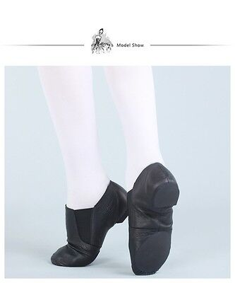 Jazz Shoes Black Leather Split Sole - Average to Wide fitting