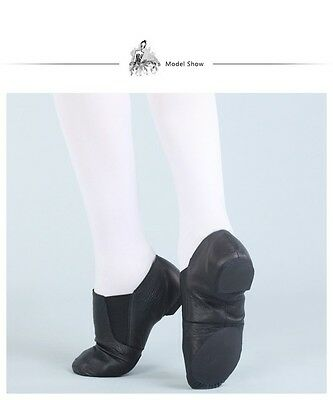 Jazz Shoes Black Leather Split Sole Dttrol - Average to Wide fitting