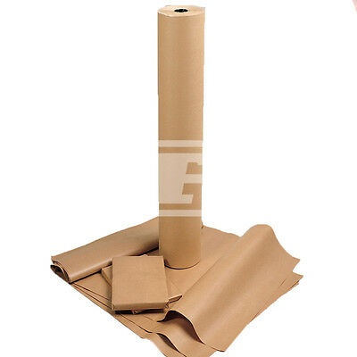 "18"" (450mm) 70gsm HEAVY DUTY THICK BROWN PURE KRAFT PARCEL WRAPPING PAPER CRAFT"