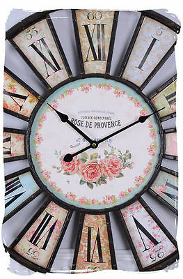French country-style wall clock Rose Vintage clock Nostalgia